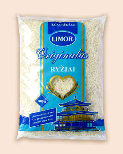 Long-grain rice Limor Original pre-packaged 800 gr.