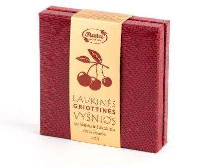 """Assorted sweets """"Laukinės GRIOTTINES vyšnios su likeriu ir šokoladu"""", 232 g"""