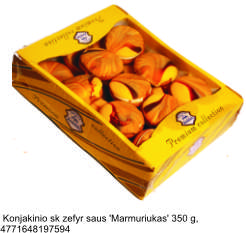 "Zephyr cookies with taste of brandy ""Marmariukas"", 350 g."