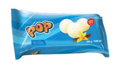 POP Family Pack vanilla ice cream 1000 ml