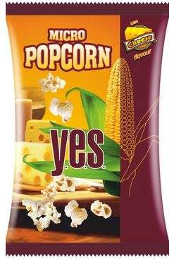 """Y.E.S."" popcorn (cheese flavour) 90g"