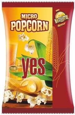 """""""Y.E.S."""" popcorn (butter flavour) 90g"""