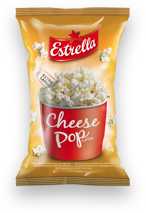 Micropopcorn ERSTRELLA, cheese flavoured 90 g