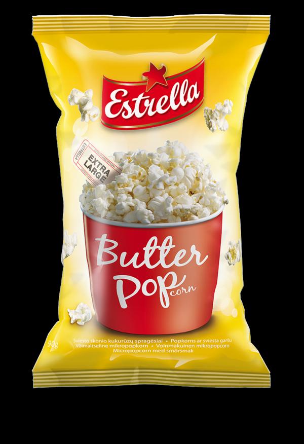 Micropopcorn ERSTRELLA, butter flavoured 90 g