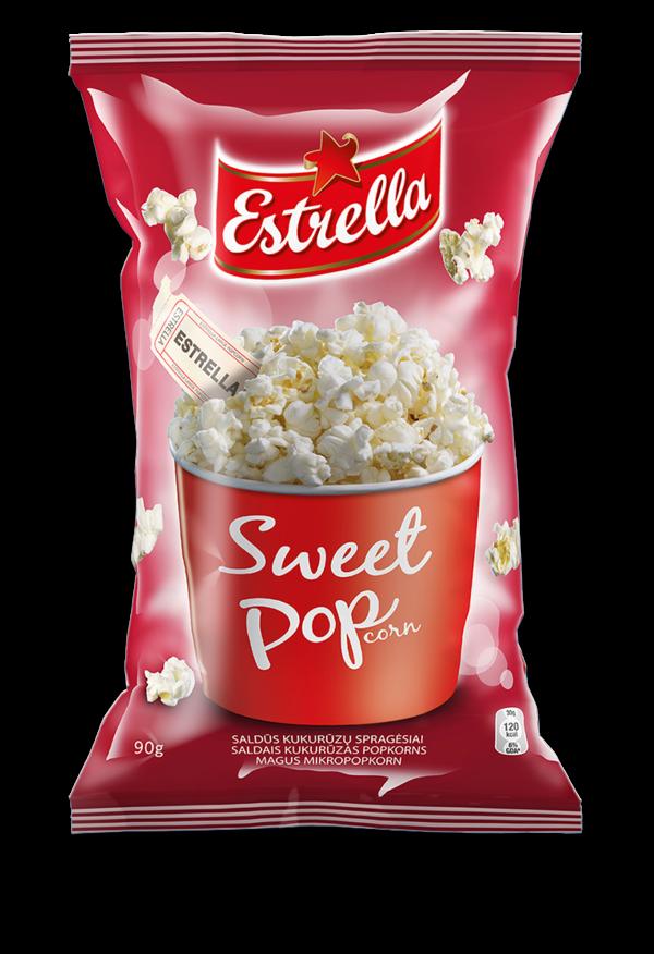 Popcorn ESTRELLA, sweet, 90 g