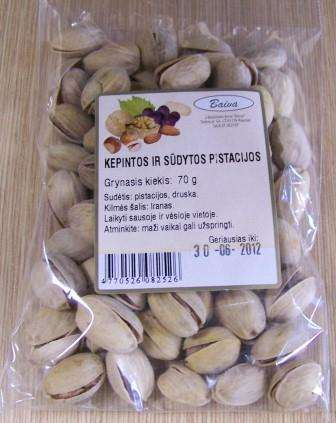 Roasted and salted pistachios 70g