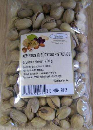 Roasted and salted pistachios 200g