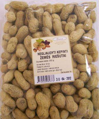 Unshelled roasted peanuts 250g