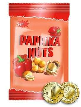 """Coated peanuts """"Jėga"""" paprika taste, 70g"""