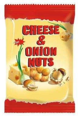 "Coated peanuts with cheese and onion ""Jėga"", 70g"