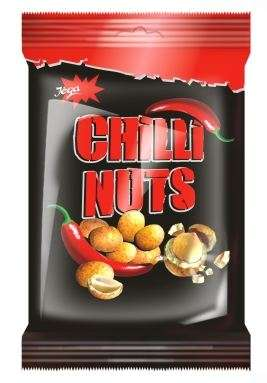"Coated peanuts with chilli taste ""Jėga"", 70g"