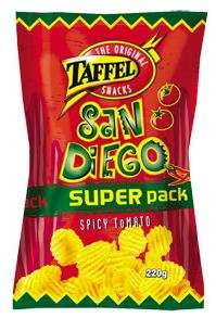 Chips TAFFEL SUPER-PACK SAN DIEGO, 220 g