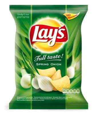 """Lay's""  Green  onion flavored potato chips 77g"