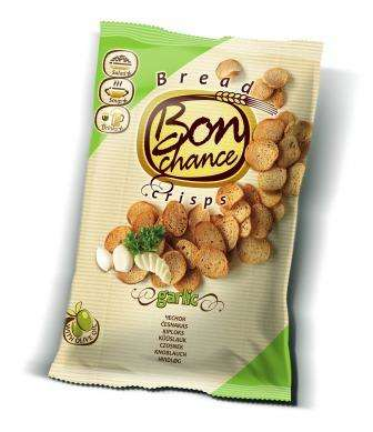 "Bread crisps with garlic ""Bon chance"", 120 g"