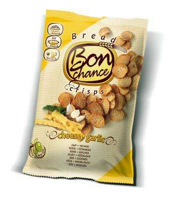 "Bread crisps with cheese and garlic ""Bon chance"", 120 g"