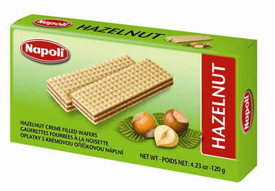 120g wafers with peanut cream filling tastes Napoli