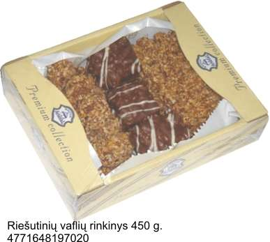 Set of wafer with nuts, 450 g.