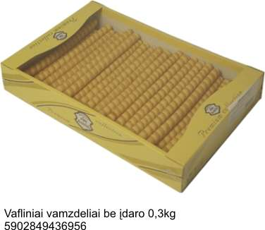 Wafer tubes without filling, 300 g.