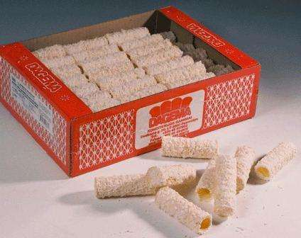 Coconut and cocoa coated wafer rolls 300g