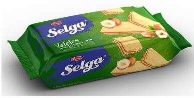 Wafers SELGA with hazelnut taste 90g