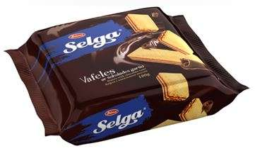 Wafers SELGA with chocolate taste 180g
