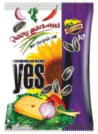 """Y.E.S."" sunflower seeds roasted with spices (striped) ""Cheese"" 50g"