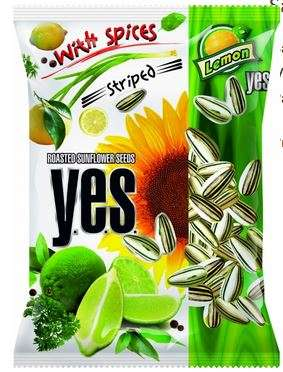 """""""Y.E.S."""" sunflower seeds roasted with spices (striped) """"Lemon"""" 150g"""