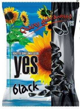 """Y.E.S."" sunflower seeds roasted (black) 150g"