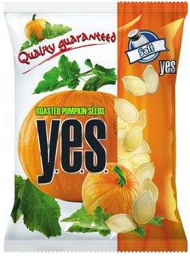 """Y.E.S."" pumpkin seeds roasted&salted 50g"