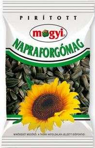 Roasted black sunflower seeds MOGYI, white colour pack, 150 g