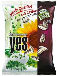 Roasted Sunflower Seeds Y.E.S. with Onion and Cream Seasoning, 50g