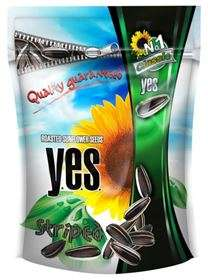 Roasted sunflower seeds Y.E.S. 150 g (striped)