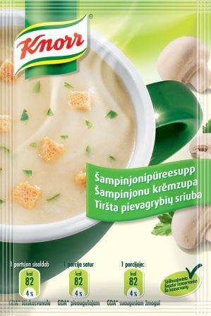 KNORR creamy mushroom soup with croutons 15g