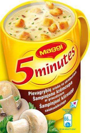 MAGGI instant mushroom soup with croutons 14g