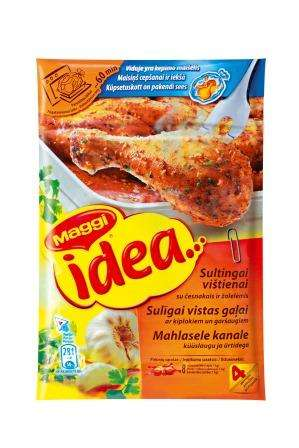 MAGGI Idea template juicy chicken with garlic and herbs 30g