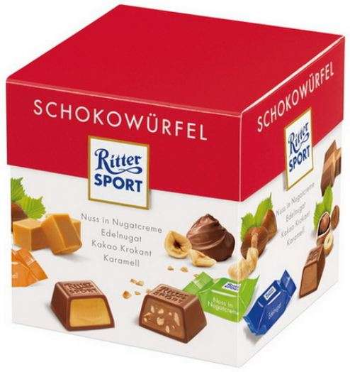 RITTER SPORT assortment of chocolates, 176g
