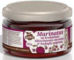 Marinade with cowberry, plum and berries of Common Juniper, 190g