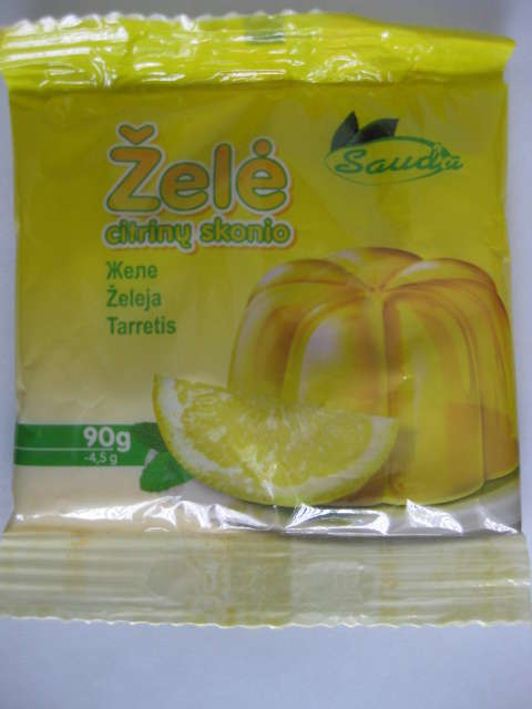 Jelly with taste of lemon 90g