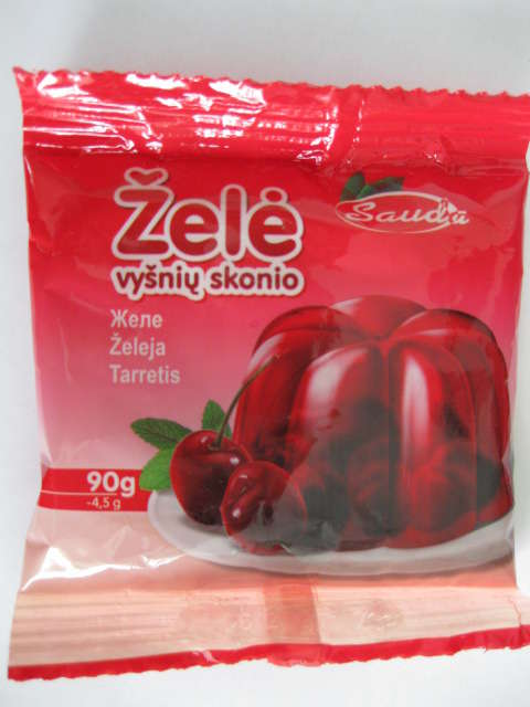Jelly with taste of cherry 90g