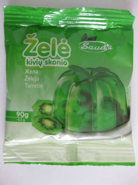 Jelly with taste of kiwi 90g
