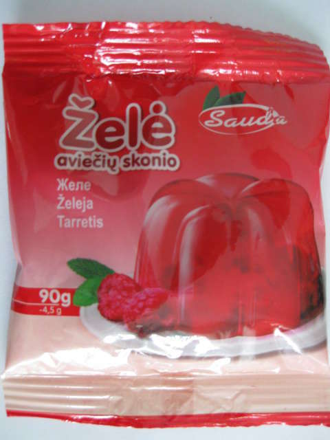 Jelly with taste of raspberry 90g