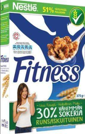 NESTLE Fitness wheat flakes, 375g