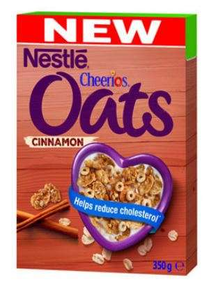 NESTLE flakes Oats and Cinnamon Cheerios, 350g