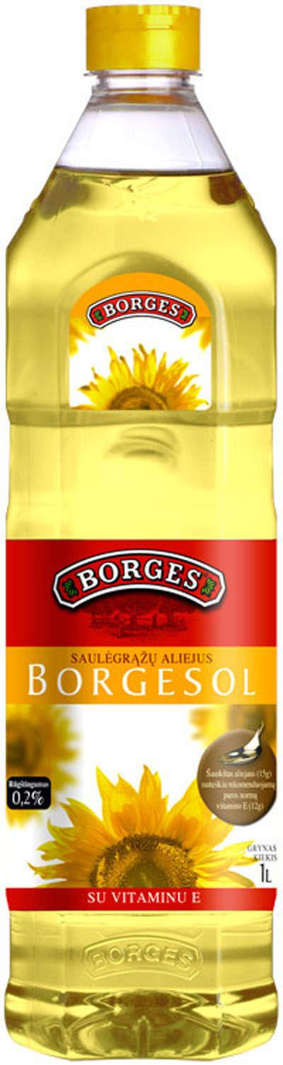 1L refined sunflower oil PET BORGES