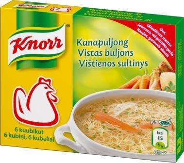 KNORR Chicken broth, 6x10g
