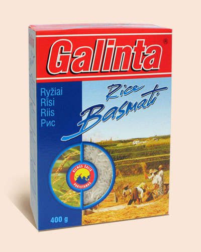 Long grain rice Galinta Basmati box 400 gr.