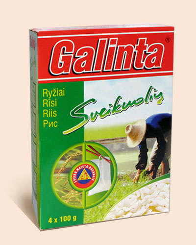 Long grain rice Galinta Delicat box4x100 gr.