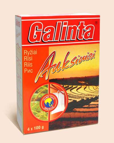 Parboiled rice Galinta Auksiniai box 4x100 gr.