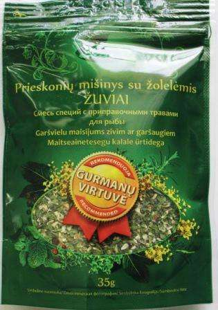 """Spice mixture  """"For fish with herbs"""", 35g"""