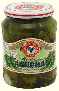 Pickled cucumbers, 0.72l